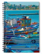 Colors Of A Fishing Fleet Spiral Notebook