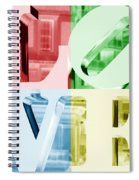 Colors Of Love Philadelphia Pa Spiral Notebook