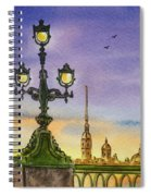 Colors Of Russia Bridge Light In Saint Petersburg Spiral Notebook