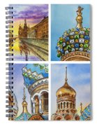 Colors Of Russia Church Of Our Savior On The Spilled Blood  Spiral Notebook