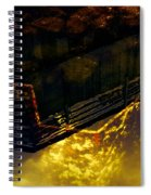 Colors Of The Sound Gold Spiral Notebook