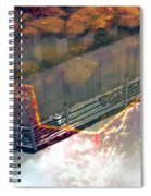Colors Of The Sound Orange Spiral Notebook