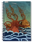 Colossal Octopus Attacking Ship 1801 Spiral Notebook