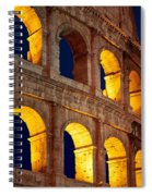 Colosseum And Moon Spiral Notebook