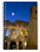 Colosseum And The Moon Spiral Notebook