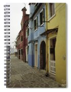 Coloured Houses In Burano Spiral Notebook