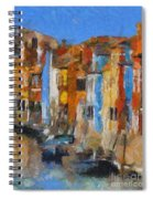 Coloured Houses On Burano Spiral Notebook