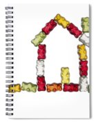Coloured Jellybabies Formed As A House Spiral Notebook
