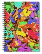 Coloured Oak Leaves By M.l.d. Moerings 2009 Spiral Notebook