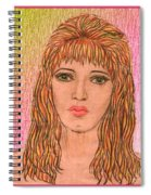 Coloured Pencil Self Portrait Spiral Notebook