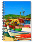 Colourful Boats Spiral Notebook