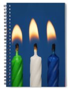 Colourful Candles Lit Spiral Notebook