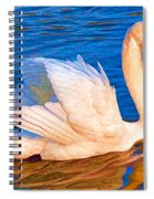 Colourful Swan Spiral Notebook