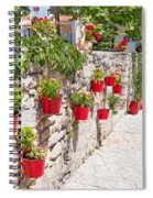 Colourful Flower Pots Spiral Notebook