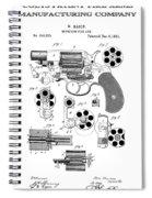 Colt Revolver Patent Art 3  -  1881  Spiral Notebook