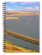 Columbia River In Oregon, Viewed Spiral Notebook