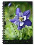 Columbine Card  Spiral Notebook