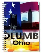 Columbus Oh Patriotic Large Cityscape Spiral Notebook