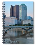 Columbus Ohio At Dusk Spiral Notebook