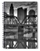 Columbus Ohio Downtown Bw Spiral Notebook