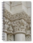 Column Relief Abbey Fontevraud  Spiral Notebook