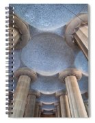 Columns And Domes Of Hypostyle Room In Park Guell Spiral Notebook