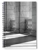 Columns And Shadows Spiral Notebook