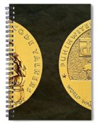 Comanche Nation Tribe Code Talkers Bronze Medal Art  Spiral Notebook