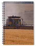 Combine Harvester And Cows Spiral Notebook