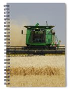 Combine Working A Field On The Spiral Notebook