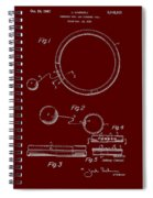 Combined Hoop And Tethered Ball Toy Patent 1967 Spiral Notebook