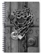 Come On In In Black And White Spiral Notebook