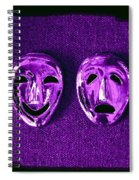 Comedy And Tragedy Masks 2 Spiral Notebook