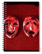 Comedy And Tragedy Masks 4 Spiral Notebook