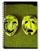 Comedy And Tragedy Masks 6 Spiral Notebook
