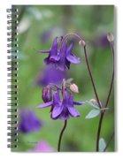 Comfort In Purple Spiral Notebook