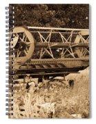 Comgine Wheel In Sepia Spiral Notebook