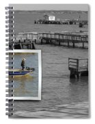Coming In To Dock Spiral Notebook