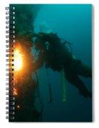 Commercial Diver At Work Spiral Notebook