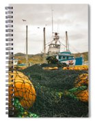 Commercial Fishing In The North Atlantic Spiral Notebook