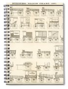 Commercial Wagons  1881 Spiral Notebook
