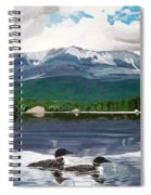 Common Loon On Togue Pond By Mount Katahdin Spiral Notebook