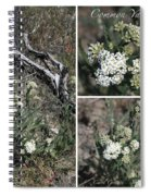 Common Yarrow Collage Spiral Notebook