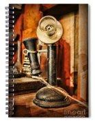 Communication - Candlestick Phone Spiral Notebook