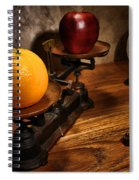 Comparing Apple And Orange Spiral Notebook