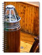 Compass And Bright Work Old Sailboat Spiral Notebook