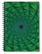 Complex Convexity Cavern Moss And Blue Spiral Notebook