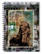Composition Based On Angkor History Spiral Notebook
