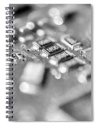 Computer Board High Key Black And White Spiral Notebook
