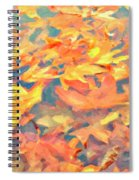 Computer Generated Image Of Autumn Spiral Notebook